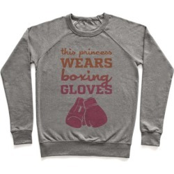 This Princess Wears Boxing Gloves Pullover from LookHUMAN
