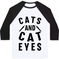 Cats and Cat Eyes Baseball Tee from LookHUMAN