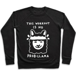 This Workout Is No Prob-Llama Pullover from LookHUMAN