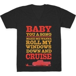 Baby You a Song V-Neck T-Shirt from LookHUMAN found on Bargain Bro India from LookHUMAN for $27.99