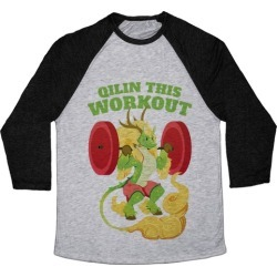 Qilin This Workout! Baseball Tee from LookHUMAN