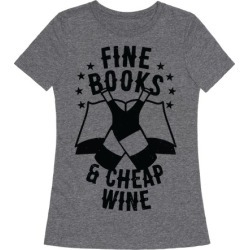 Fine Books & Cheap Wine T-Shirt from LookHUMAN