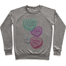 Sherlock Valentines Candy Hearts Pullover from LookHUMAN