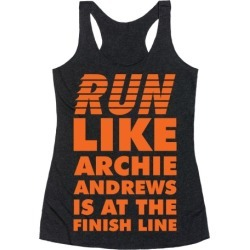 Run like Archie is at the Finish Line Racerback Tank from LookHUMAN found on Bargain Bro Philippines from LookHUMAN for $25.99