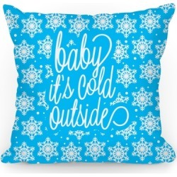 Baby It's Cold Outside Throw Pillow from LookHUMAN found on Bargain Bro Philippines from LookHUMAN for $29.99