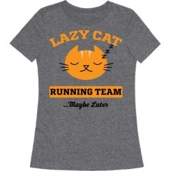 Lazy Cat Running Team T-Shirt from LookHUMAN