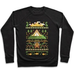 Ugly Camping Sweater Pullover from LookHUMAN