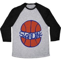 Basketball Slam Dunk Baseball Tee from LookHUMAN