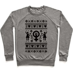 Girl Power Ugly Sweater Pullover from LookHUMAN