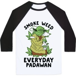Smoke Weed Everyday Padawan Baseball Tee from LookHUMAN found on Bargain Bro India from LookHUMAN for $29.99