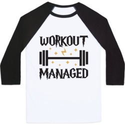 Workout Managed Baseball Tee from LookHUMAN