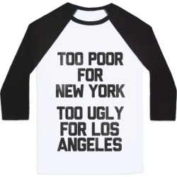 Too Poor For New York Baseball Tee from LookHUMAN