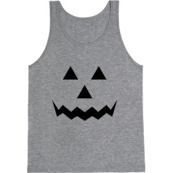 Pumpkin Face Costume Tank Top from LookHUMAN found on Bargain Bro Philippines from LookHUMAN for $25.99