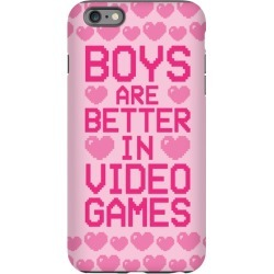 Boys Are Better In Video Games Phone Case from LookHUMAN