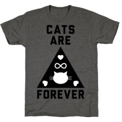 Cats Are Forever T-Shirt from LookHUMAN