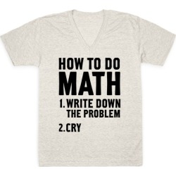 How To Do Math V-Neck T-Shirt from LookHUMAN