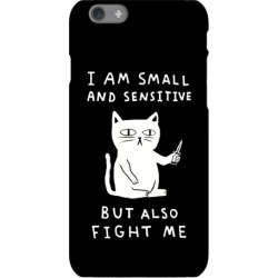 I Am Small And Sensitive But Also Fight Me Cat Phone Case from LookHUMAN found on Bargain Bro Philippines from LookHUMAN for $25.99