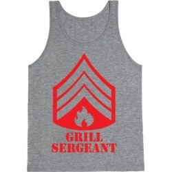Grill Sergeant Tank Top from LookHUMAN found on Bargain Bro India from LookHUMAN for $25.99