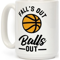 Falls Out Balls Out Basketball Mug from LookHUMAN