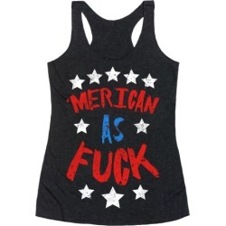 'Merican As F*** Racerback Tank from LookHUMAN