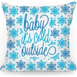 Baby It's Cold Outside Throw Pillow from LookHUMAN found on Bargain Bro Philippines from LookHUMAN for $32.99