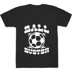 Ball Buster (Soccer) V-Neck T-Shirt from LookHUMAN