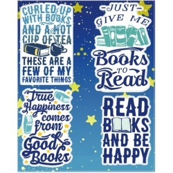 Read Books And Be Happy Stickers from LookHUMAN