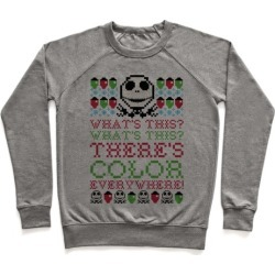 Skellington Ugly Sweater Pullover from LookHUMAN