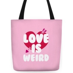Love Is Weird Tote Bag from LookHUMAN found on Bargain Bro India from LookHUMAN for $24.99