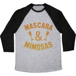 Mascara & Mimosas Baseball Tee from LookHUMAN