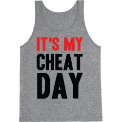 Cheat Day Tank Top from LookHUMAN