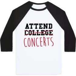 Concerts Baseball Tee from LookHUMAN