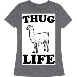 Thug Life Llama T-Shirt from LookHUMAN