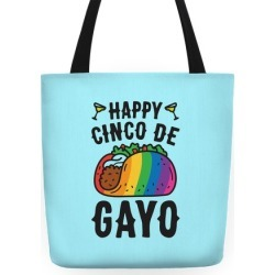 Happy Cinco De Gayo Tote Bag from LookHUMAN found on Bargain Bro India from LookHUMAN for $27.99