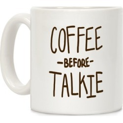 Coffee Before Talkie Mug from LookHUMAN
