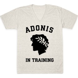 Adonis In Training V-Neck T-Shirt from LookHUMAN found on Bargain Bro from LookHUMAN for USD $21.27