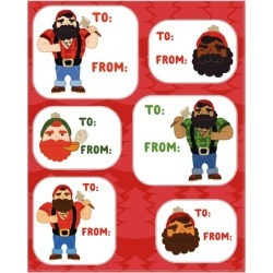 Holiday Lumberjack Gift Tags Stickers from LookHUMAN