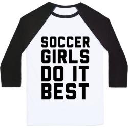 Soccer Girls Baseball Tee from LookHUMAN