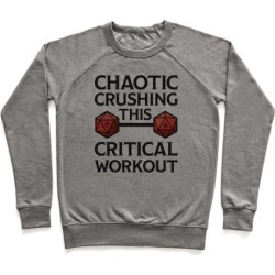 Chaotic Crushing This Critical Workout Pullover from LookHUMAN