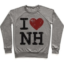 I Love New Hampshire Pullover from LookHUMAN
