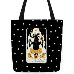 The Heckboy Tarot Card Tote Bag from LookHUMAN found on Bargain Bro India from LookHUMAN for $24.99