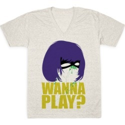 Wanna Play? V-Neck T-Shirt from LookHUMAN found on Bargain Bro from LookHUMAN for USD $21.27