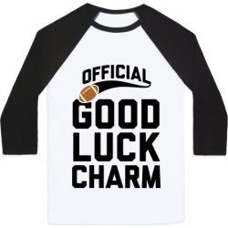 Football Good Luck Charm Baseball Tee from LookHUMAN
