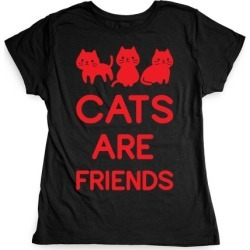 Cats Are Friends T-Shirt from LookHUMAN