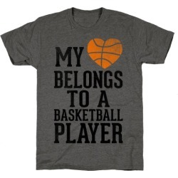 My Heart Belongs to a Basketball Player (Baseball Tee) T-Shirt from LookHUMAN