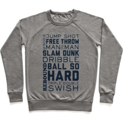 Basketball Typographic (Blue) Pullover from LookHUMAN