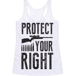 Protect Your Right Racerback Tank from LookHUMAN found on Bargain Bro Philippines from LookHUMAN for $25.99
