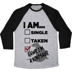 Rawr I'm A Dinosaur! Baseball Tee from LookHUMAN found on Bargain Bro India from LookHUMAN for $29.99