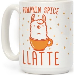 Pumpkin Spice Llatte Mug from LookHUMAN