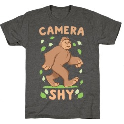Camera Shy T-Shirt from LookHUMAN